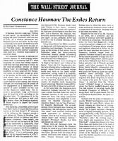 Wall Street Journal Review - Constance Hauman - Exiles in Paradise